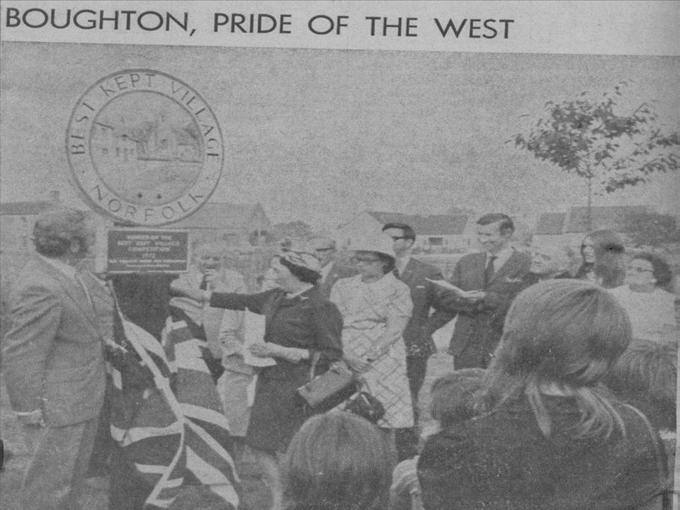 Best Kept Village Sign Unveiling 1972