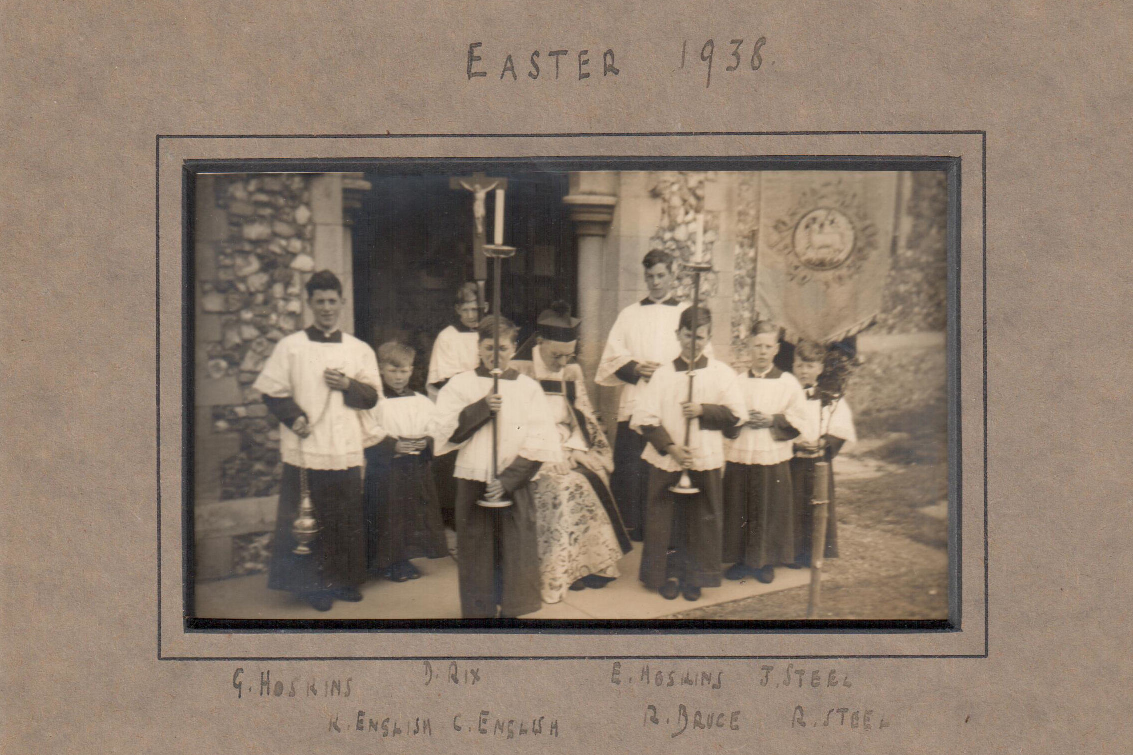 All Saints' Choir Easter 1938